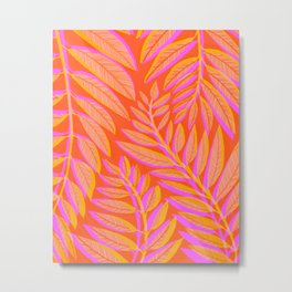 Hot Tropics II - Vertical Pink Orange Palette Metal Print
