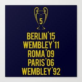 Barcelona Champions - Berlin 2015 Canvas Print