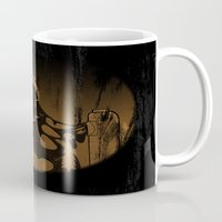 oil Mugs featuring oil monster by ErDavid