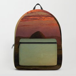 Pink Sunset over Scituate, Rhode Island Marches Landscape by Martin Johnson Heade Backpack