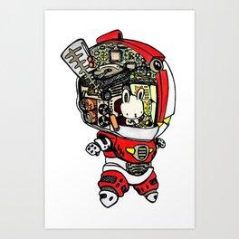 Robo Rabbit Art Print