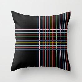 Rainbow Weave New Throw Pillow