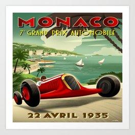 Monaco Grand Prix 1935 Art Print