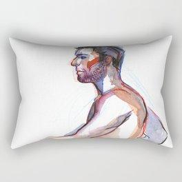 MATT, Nude Male by Frank-Joseph Rectangular Pillow