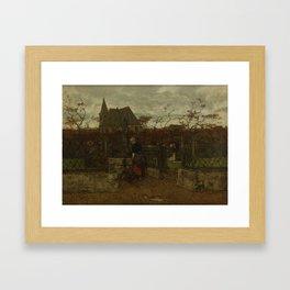 A Bleaching Field, Jacob Maris, 1870 Framed Art Print