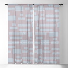 Sugar Cane - Scandinavian Mid-Century Stripes Sheer Curtain