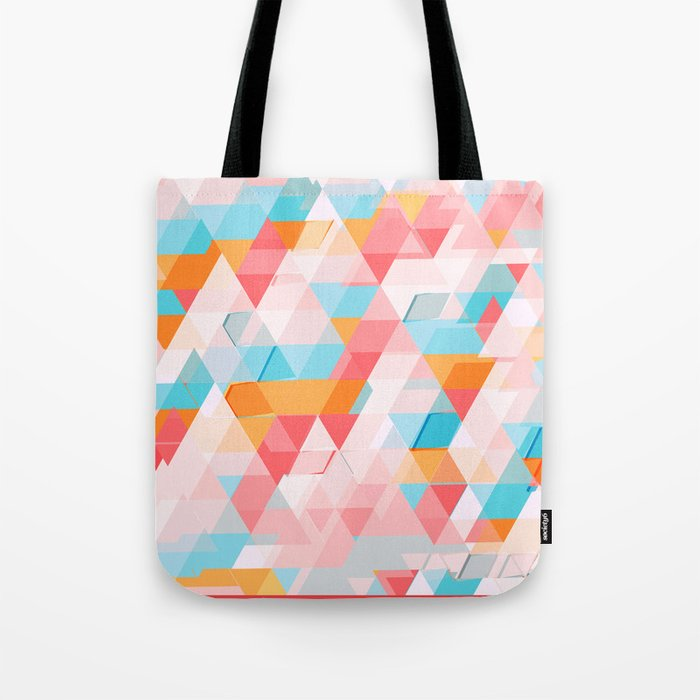 Crumbling triangles Tote Bag