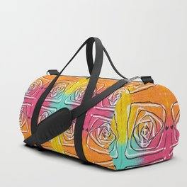 swirl doodle painting trippy pattern Duffle Bag