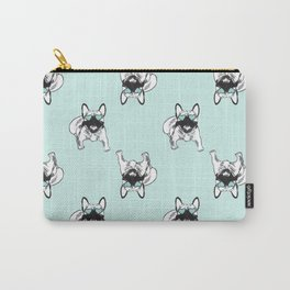 Soft turquoise mint Frenchies Carry-All Pouch