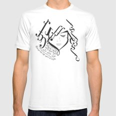 for those of you falling in love Mens Fitted Tee White MEDIUM