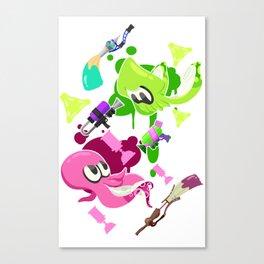 Splatoon 2 - Squid vs Octo Canvas Print