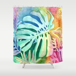Monstera Shower Curtain