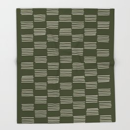 hatches – small doug fir Throw Blanket