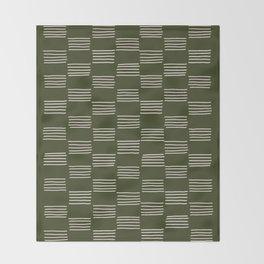 hatches –small doug fir Throw Blanket
