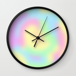 Soft Pastel Rainbow Gradient Design! Wall Clock