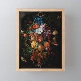 "Jan Davidsz. de Heem ""Festoon of Fruit and Flowers"" Framed Mini Art Print"