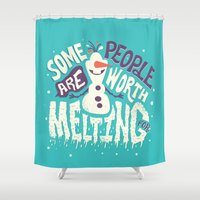 risa rodil Shower Curtains featuring Worth melting for by Risa Rodil