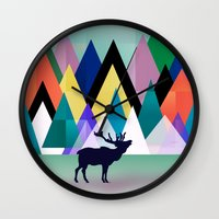 hipster Wall Clocks featuring hipster by mark ashkenazi