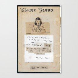 The Jesus Show Canvas Print