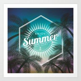 Hello summer 2 Art Print