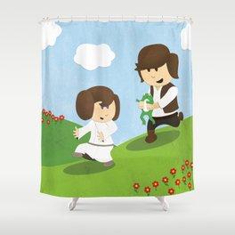 SW Kids - Han Chasing Leia Shower Curtain