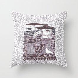 Plague Fashion Throw Pillow