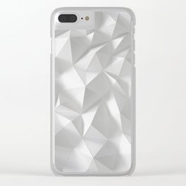 White polygonal landscape Clear iPhone Case