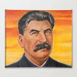 Joseph Stalin Vintage Portrait Canvas Print