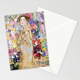 "Gustav Klimt ""Portrait of Maria Munk (unfinished)"" Stationery Cards"