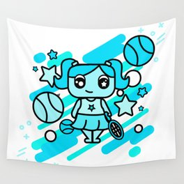 Tennis Chica Wall Tapestry