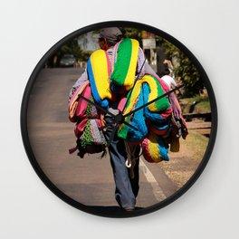 Hammock seller in El Salvador Wall Clock