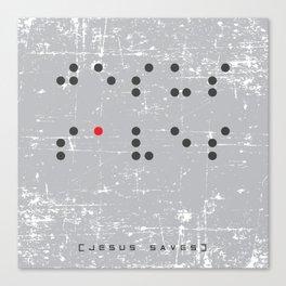 Jesus Saves Braille Canvas Print