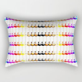 Electric Guitar Rainbow (On White) Rectangular Pillow