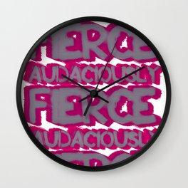 Audaciously Fierce Wall Clock