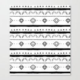 Boho Mud Cloth Pattern Canvas Print