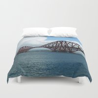 scotland Duvet Covers featuring Forth Bridge, Scotland by Phil Smyth