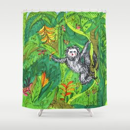 Jungle - The Secret Monkey Shower Curtain
