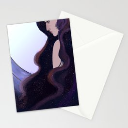 The moon and stars Stationery Cards