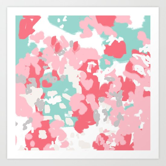 Arabella - abstract painting hipster home decor trendy color palette art gifts Art Print