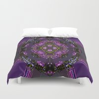pie Duvet Covers featuring Lilac Pie by Cherie DeBevoise