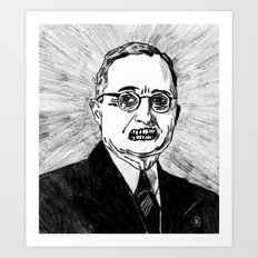 33. Zombie Harry S. Truman  Art Print