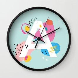 A Monogram Wall Clock