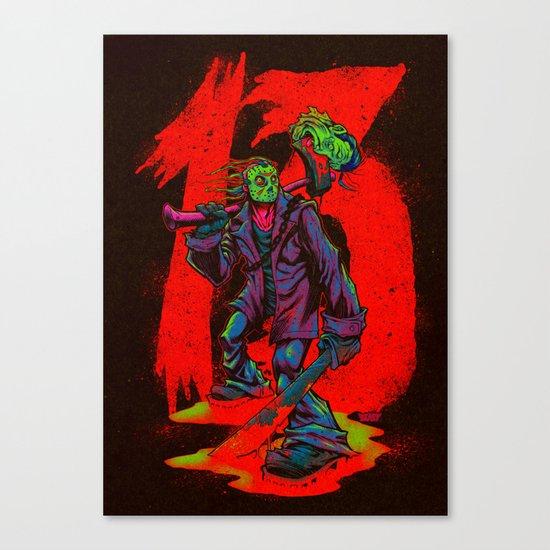 TGIF13 (neon variant) Canvas Print