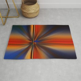 Vibrant Colorful Zoom Abstract Rug