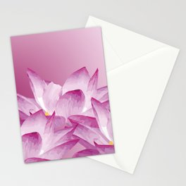 Lotos Flowers Pink Stationery Cards