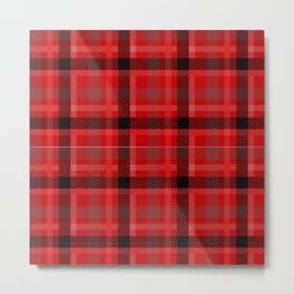 Red And Black Plaid Flannel Metal Print