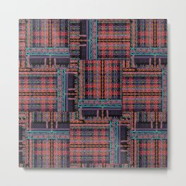 PLUSH N PRETTY PLAID Metal Print