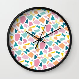 Jumpy -- abstract geometric preppy pastel bright pattern modern minimalist Wall Clock
