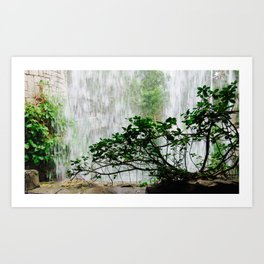 Under the Waterfall Art Print