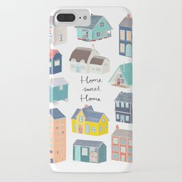 Home Sweet Home - Little Houses Print iPhone Case